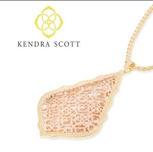 ■Kendra Scott■ Aiden Rose Gold Filigree Necklace
